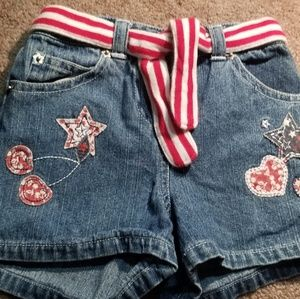 Girls patriotic shorts